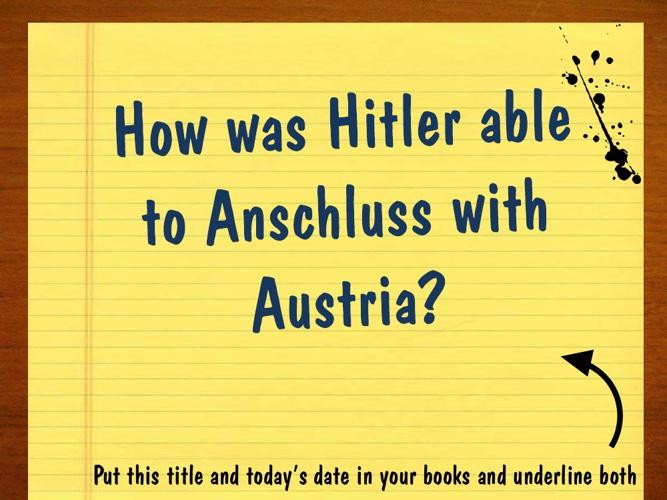 3. Anschluss with Austria
