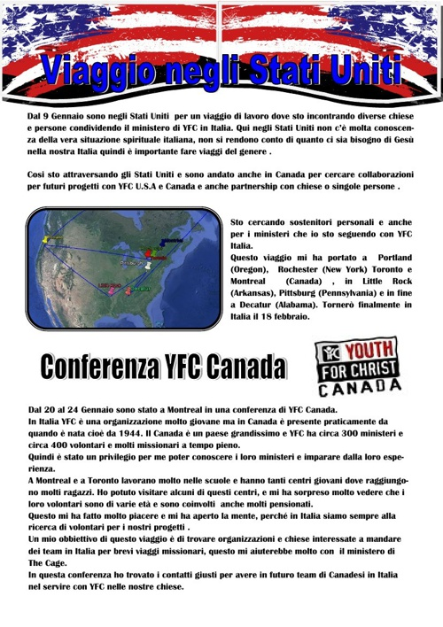 Notiziario YFC Italia Gennaio -Febbraio