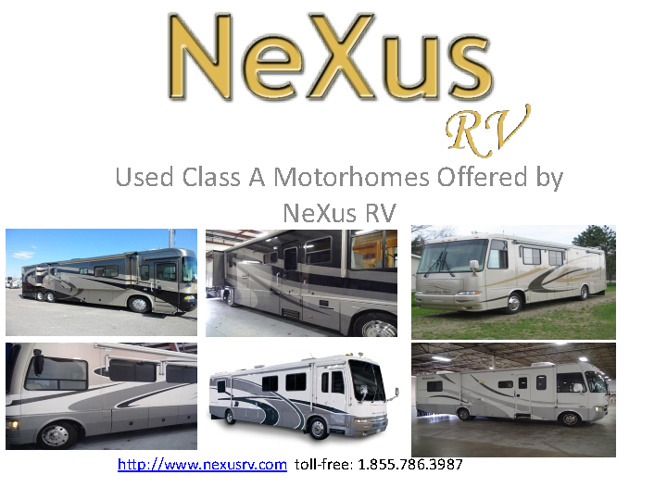 Used Class A Motorhomes and Used Class A RVs for sale by NeXus