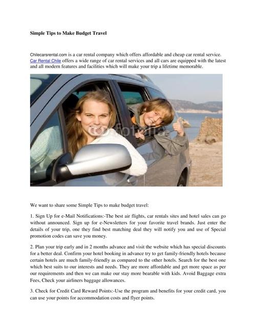 Car Rental Chile