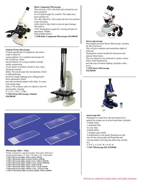 Anatomical Models &Labortory Equipment Catalog