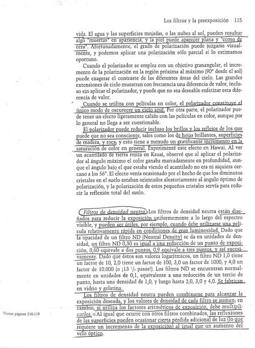 Capitulo 5 - Los Filtros y la preexposición - Partes 2/2