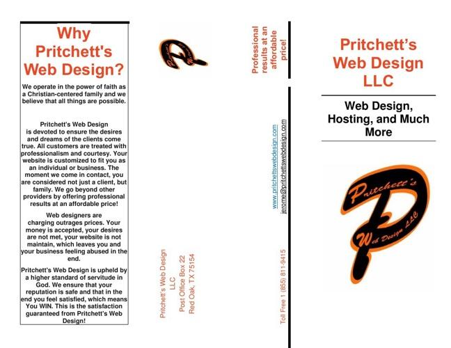 Pritchett's Web Design Brochure