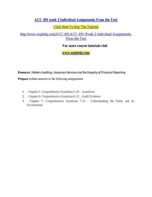 ACC 491 ACADEMIC COACH / UOPHELP