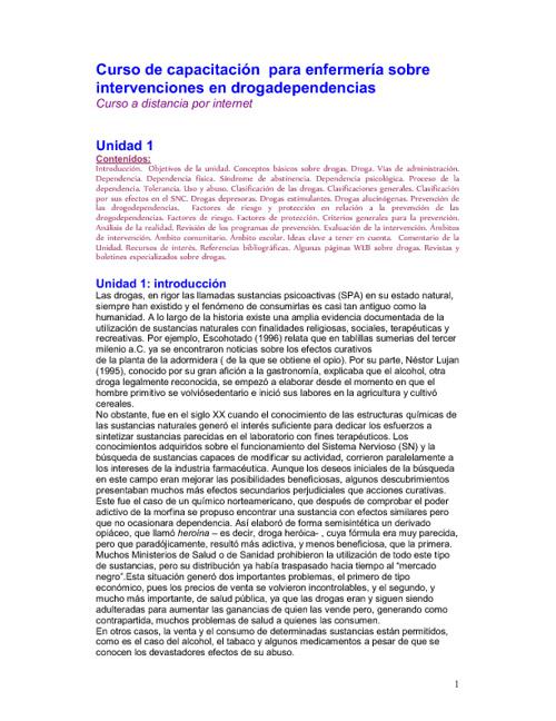 Curso de capacitación  para enfermería sobre intervenciones en d