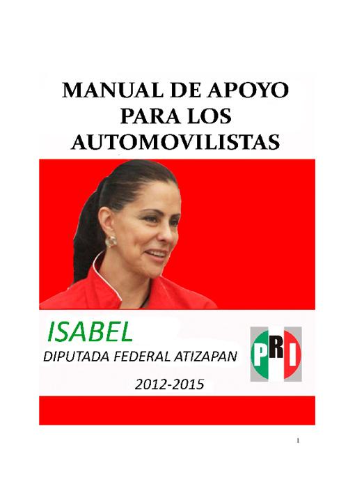 Manual de Apoyo para los Automovilistas - Isabel Rojas de Icaza