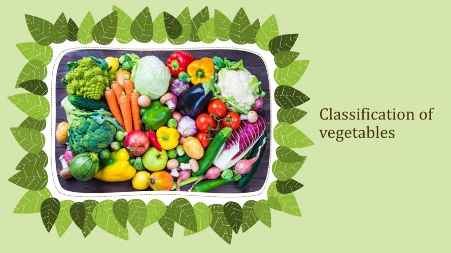 Classification of vegetables