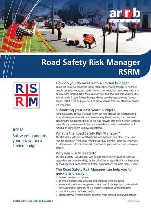 Road Safety Risk Manager - RSRM