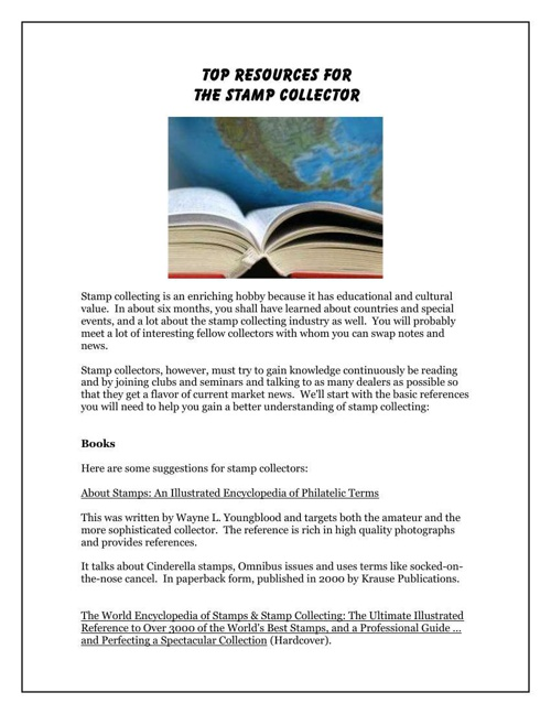 Resources For the Stamp Collector