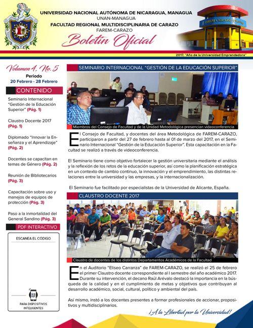 Boletín Oficial (Vol4. Núm.5)