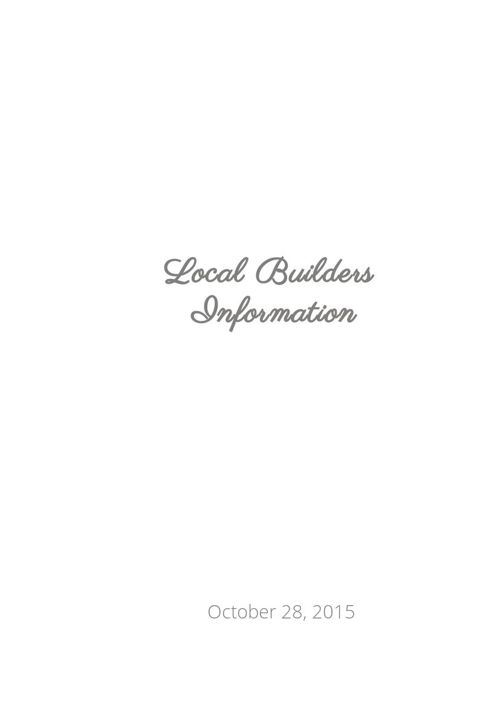 Local Builders Information