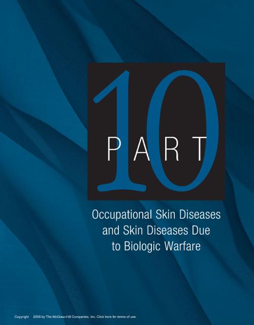 Fitzpatrick 2008 - Phần 10 - Bệnh Da Nghề Nghiệp và Chiến Tranh