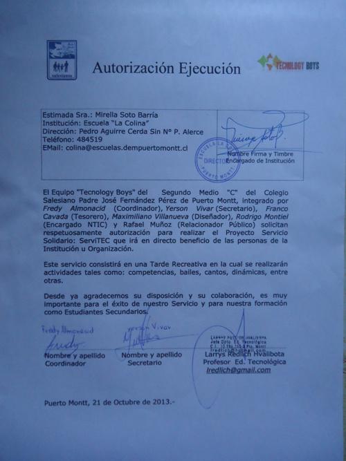 Autorización y Certificado de Ejecución