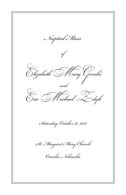 Elizabeth Wedding Program 4
