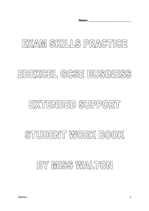 Exam Skills Booklet for A*-A Grade answers