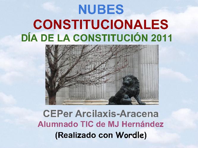 NUBES CONSTITUCIONALES-CONSTITUCIÓN 2011