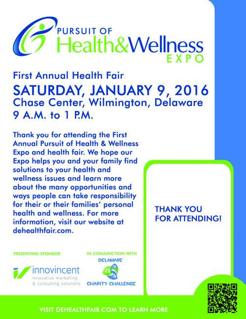 First Annual Pursuit of Health & Wellness Expo & Health Fair