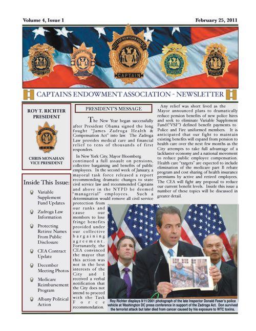 CEA Newsletter   February 25, 2011