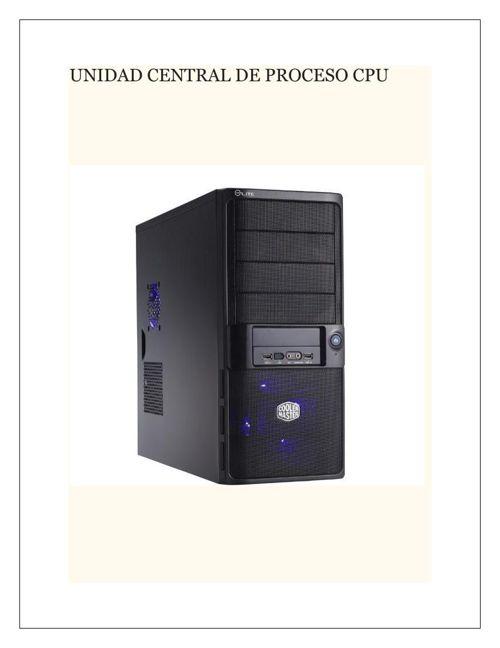 UNIDAD CENTRAL DE PROCESO CPUmel