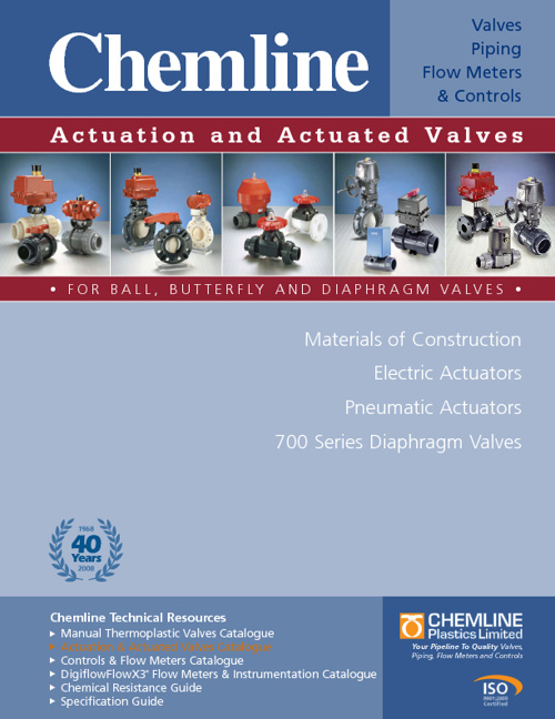 Chemline Actuation and Actuated Valves