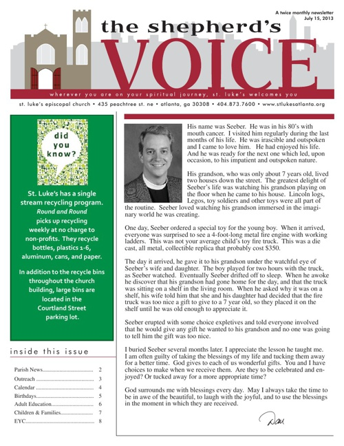 Shepherd's Voice July 15, 2013