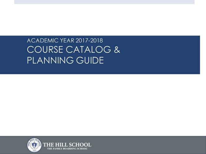 Course Catalog and Planning Guide 2017-18