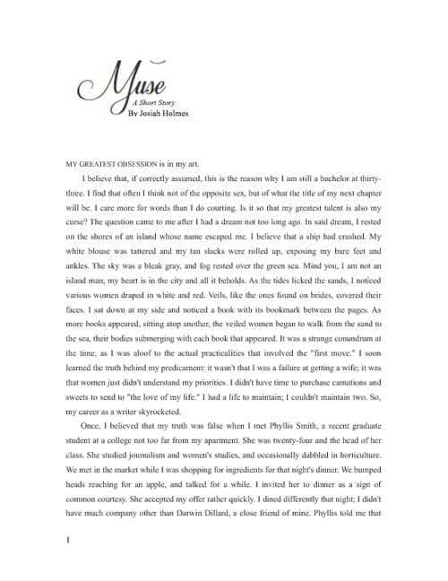 Muse, a Short Story
