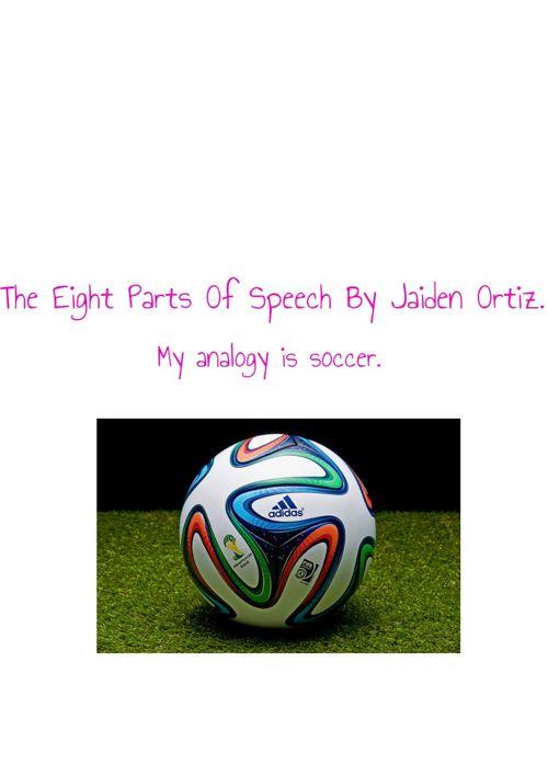 The eight parts of speech.