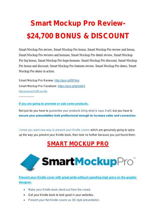 Smart Mock Up Pro Review & GIANT bonus packs