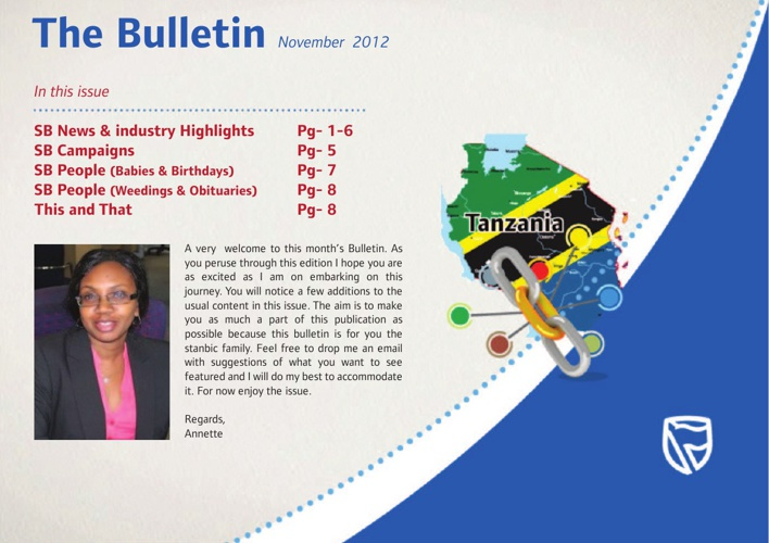 Stanbic Bank Bulletin November, 2012