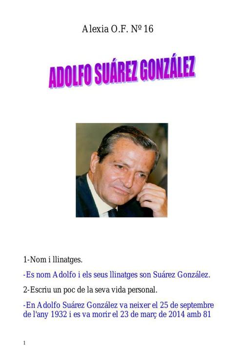 Adolfo Suárez González x8