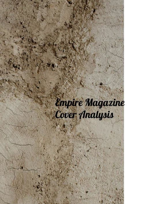 Empire Magazine Cover Analysis