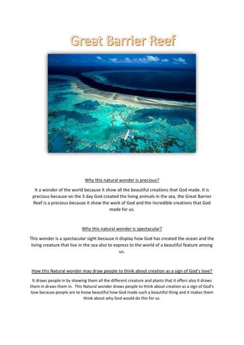 Sara Manderi The Great Barrier Reef
