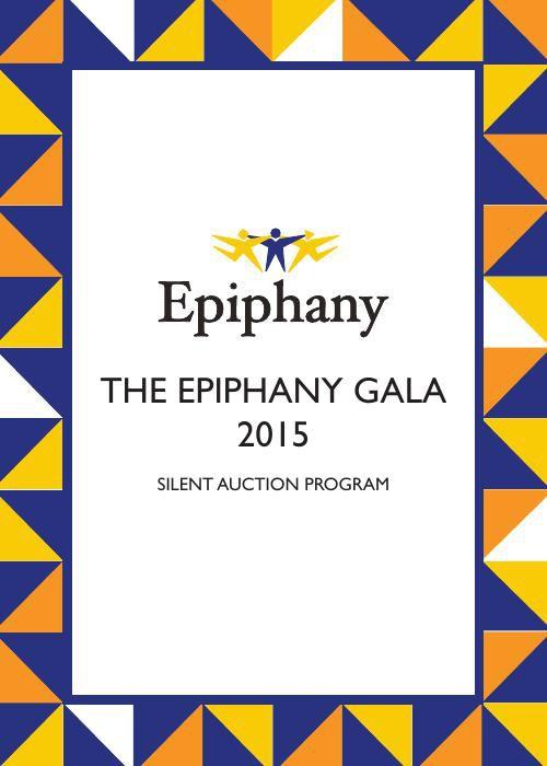 Epiphany Silent Auction Program