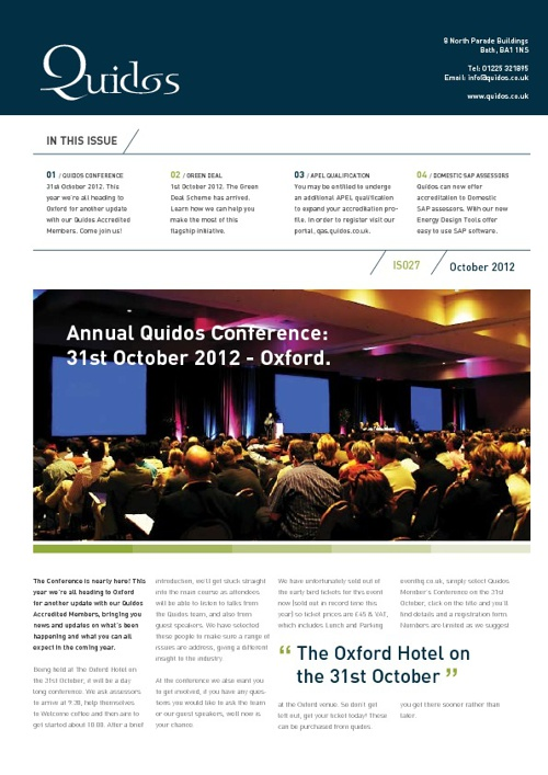 Quidos October Newsletter