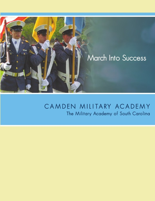 Camden Military Academy  Prospective Parents/Cadets Catalog