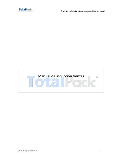 Manual de Inducción Ventas
