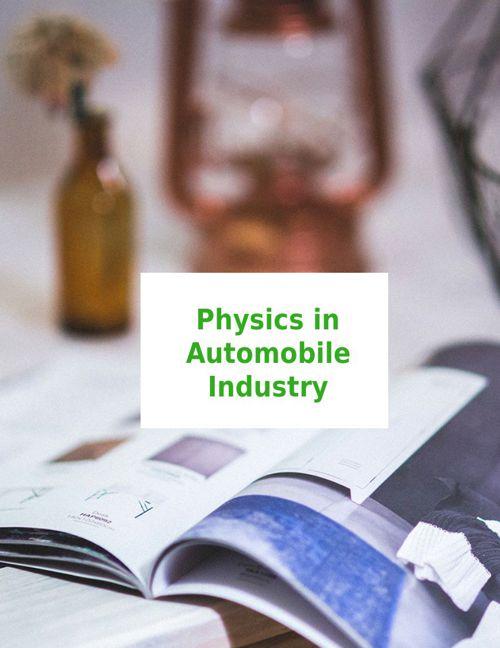física en la industria automotriz