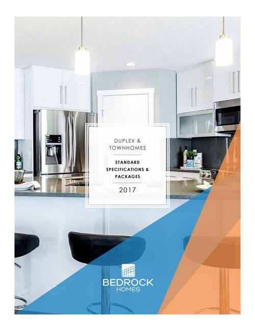 2017 Bedrock Duplex & Townhome Specification Comparison
