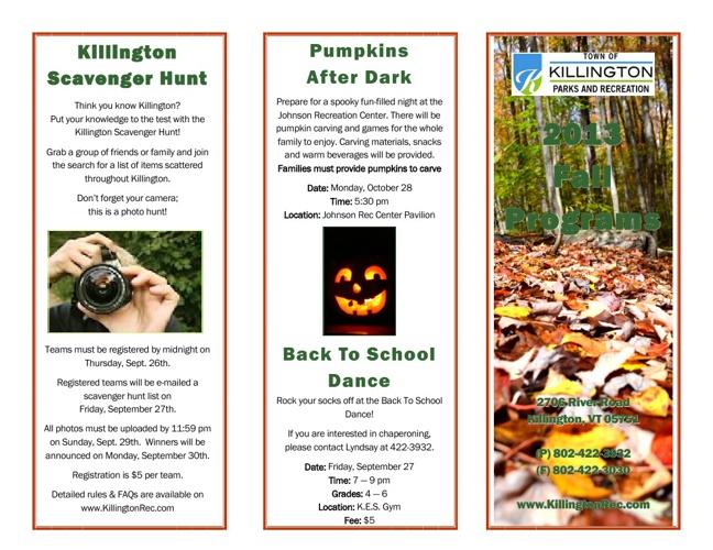 2013 Fall Programs Brochure