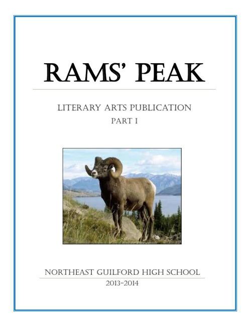 NE Guilford HS Creative Arts Publication 2013-14 (Pt 1)