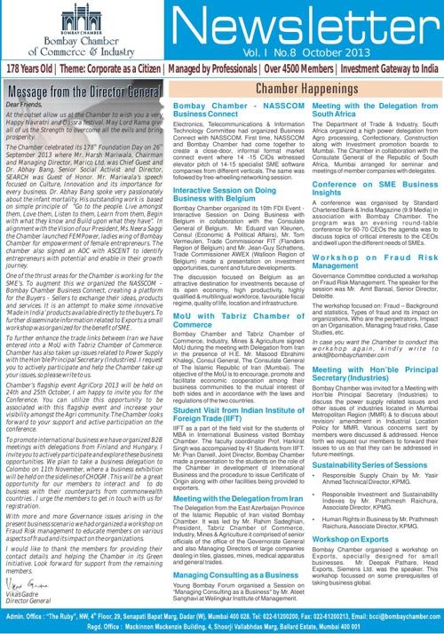 Bombay Chamber NewsLetter