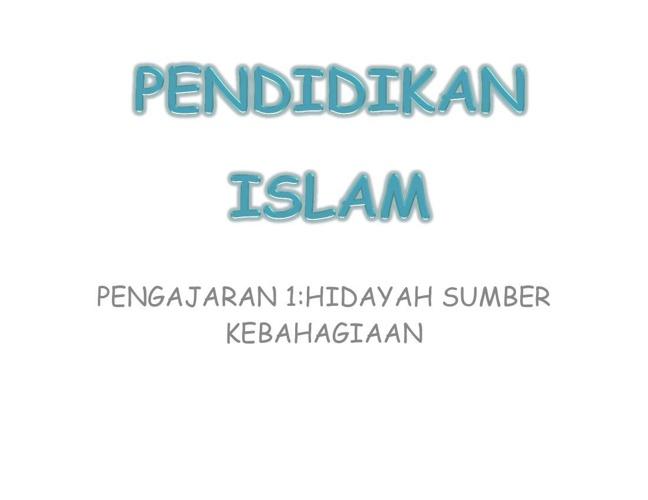 PENDIDIKAN ISLAM BAB 1 (TINGKATAN 2)