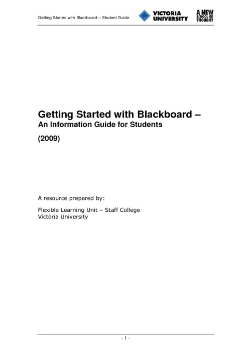 Blackboard Guide - Students