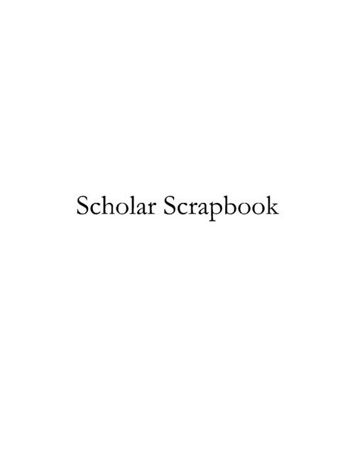 Scholar Scrapbook