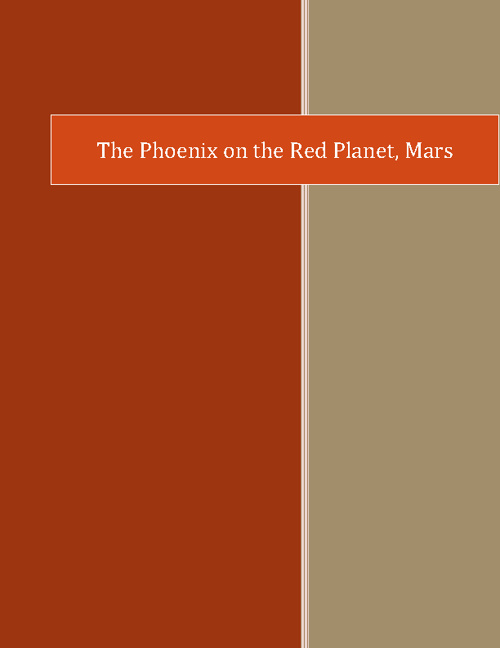 The Phoenix on the Red Planet, Mars