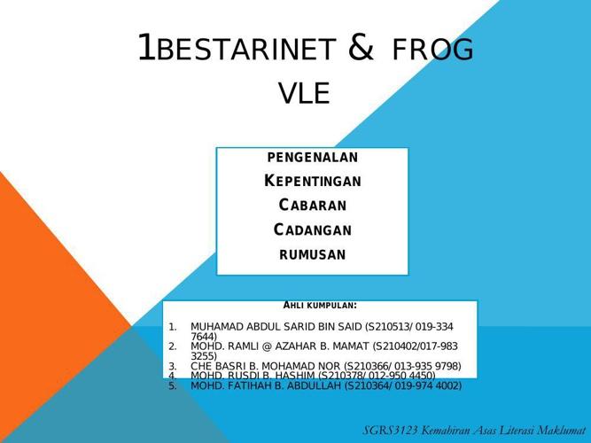 1bestarinet &  frog  vle my team