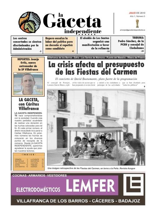 La Gaceta Independiente Nº 00
