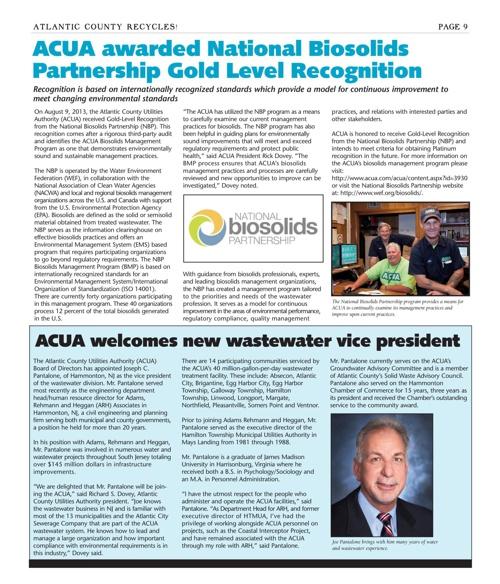 ACUA Fall Newsletter