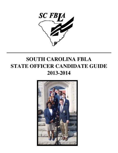 2013 SC FBLA Officer Candidate Guide